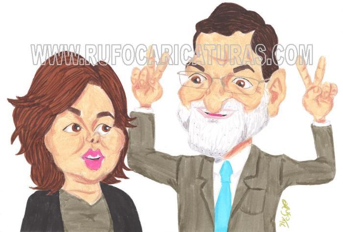 soraya_saenz_de_santamaria_mariano_rajoy_caricatura